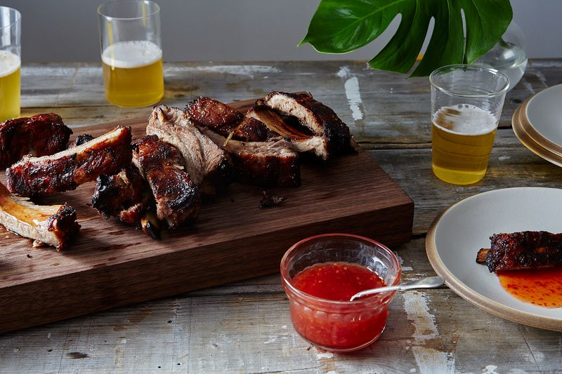 Grilled Mekhong-Style Baby Back Ribs with Thai Sweet Chili Sauce