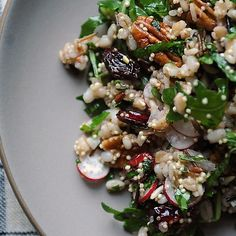Radish and Pecan Grain Salad