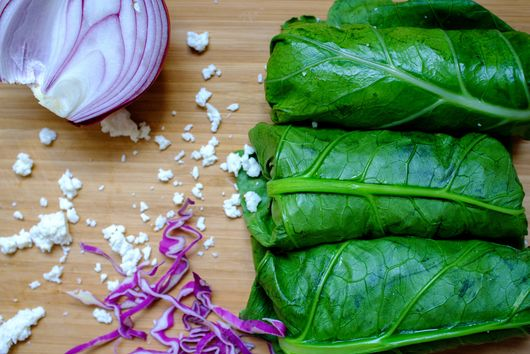 Collard Green Mexican Wrap