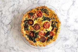 Tomato-Kale Quiche in Cheesy Rice Crust Recipe on Food52