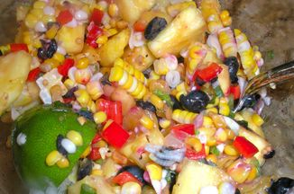 6a8eba0a 70ed 4674 928e 6d7a1e921ecd  corn pineapple and bluberrty salad food 52