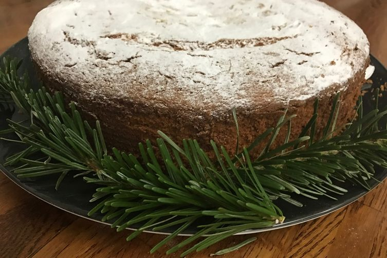 Vasilopita cake. Greek New Years cake.