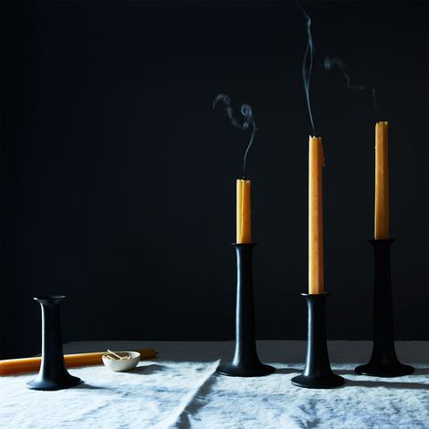 Modern Black Candlesticks (Set of 2)