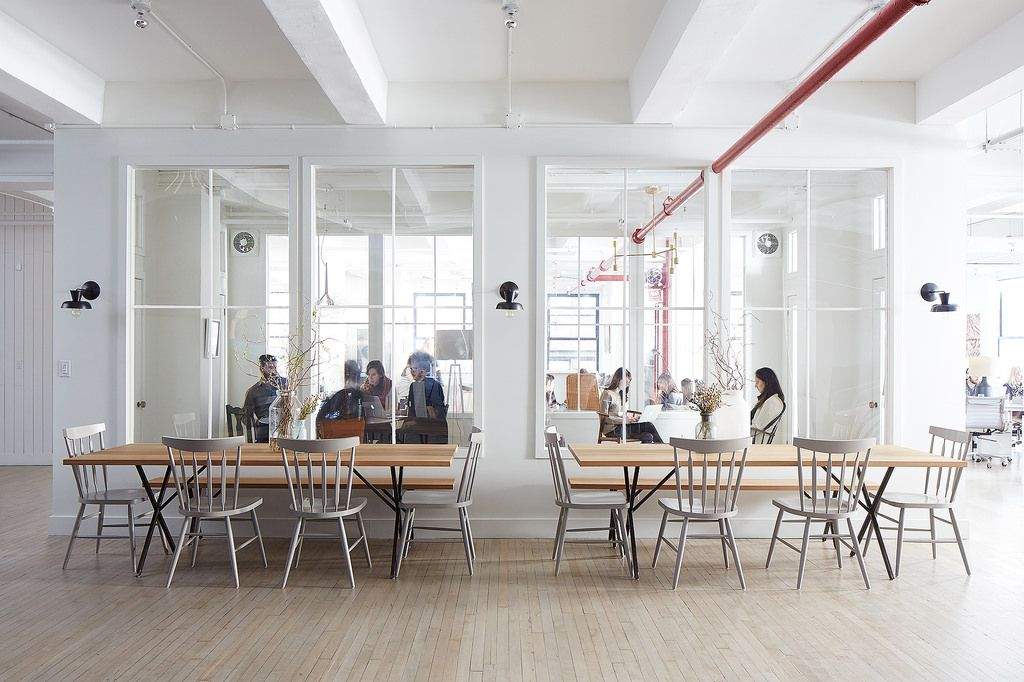 Food52's New Office Kitchen Tables New York City Mark Weinberg