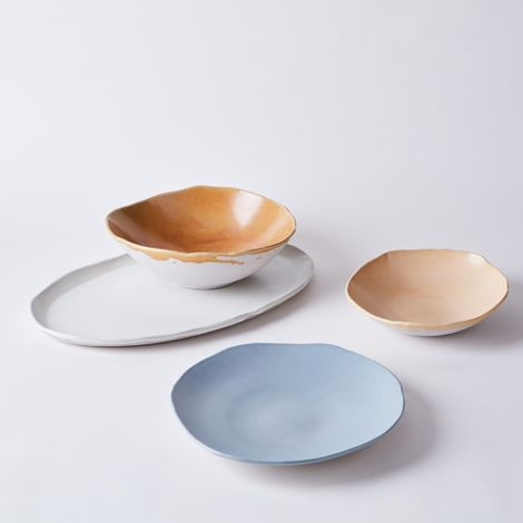 Handmade Porcelain Slab Serveware