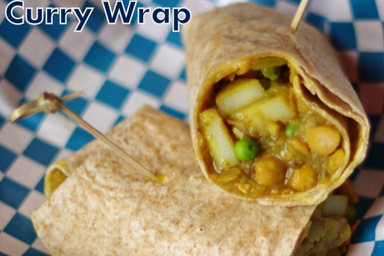 Potato and Chickpea Curry Wraps