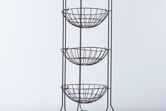 Brocante 3-Tier Wire Basket Stand