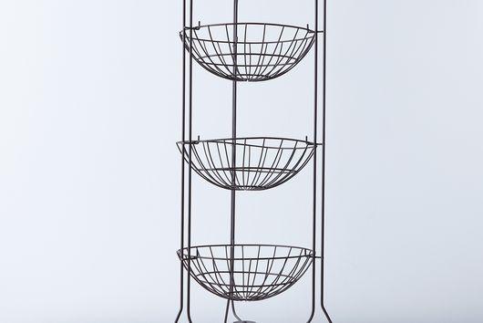 Brocante 3-Tier Wire Basket Stand