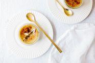Pistachio and Honey Crème Brûlée