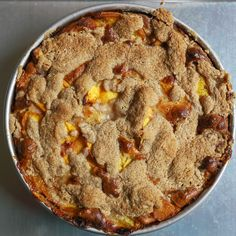 Gluten-Free Peach Brown Butter Buckle