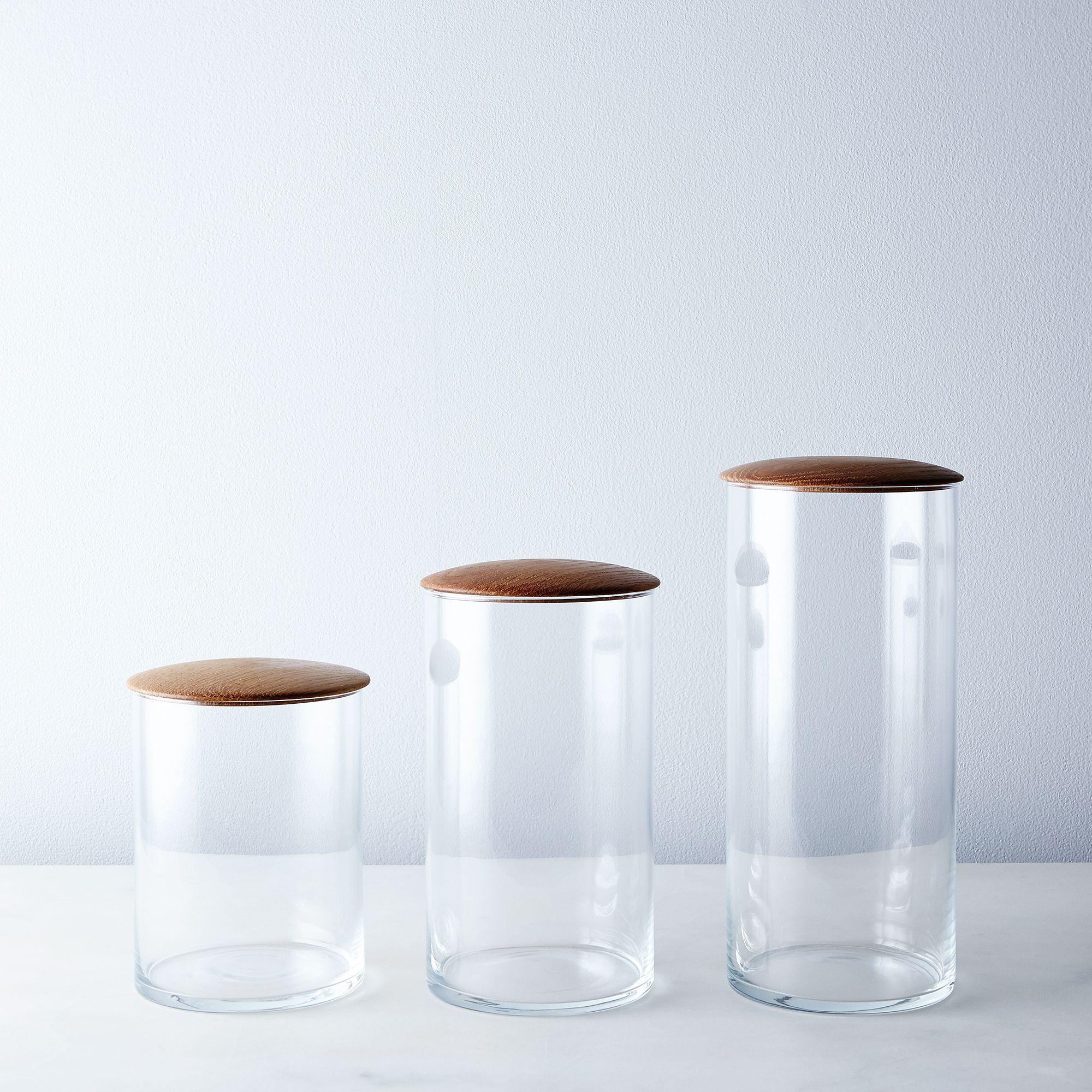 C8d6ddb6 a0f8 11e5 a190 0ef7535729df  2015 0712 hawkins ny glass and oak simple storage container set of 3 silo rocky luten 003