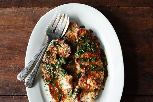 Dinner Tonight: Veal Scallopine + Orzo Salad