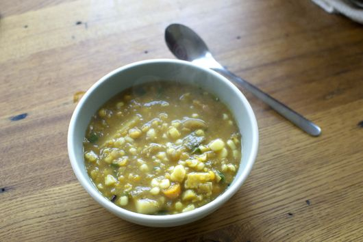 Split Corn Soup