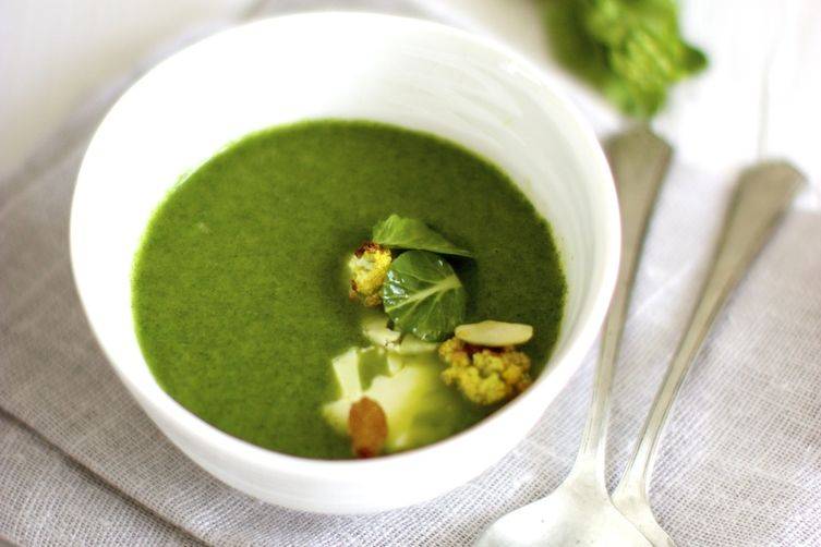 Nettle and Cauliflower Soup