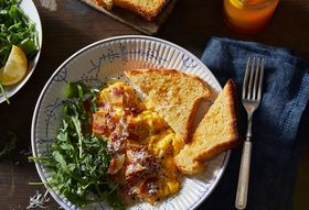 Soft-Scrambled Eggs That Take a Cheesy, Bacon-y Cue From Pasta