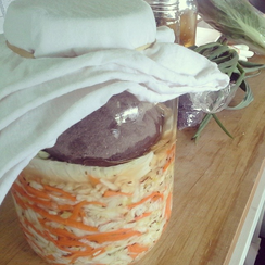 Indo-Thai Sauerkraut with Carrot