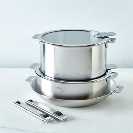Cristel Space-Saving 7-Piece Cookware Set