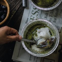 Matcha Creme Brulee Without a Torch