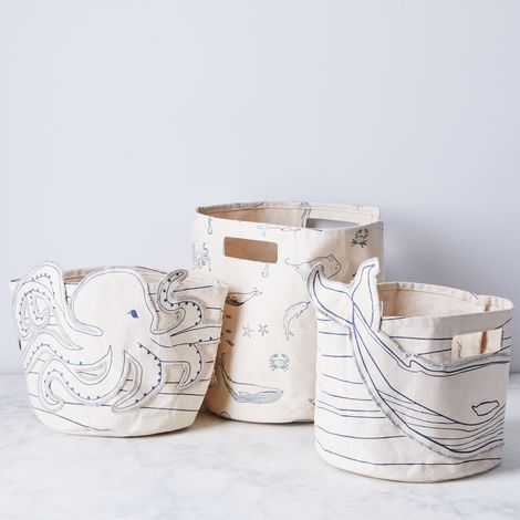 Whimsical Canvas Storage Bins
