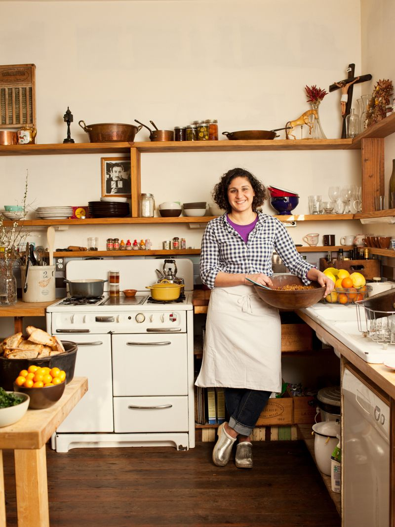 "Samin Nosrat is a chef, writer, and teacher. If her kitchen looks cozy, that's because it is: ""It shows her warmth—about herself, her food, her friends,"" said Roman."
