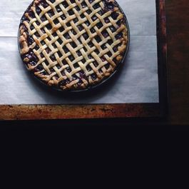 Midnight in Paris blueberry + mint pie