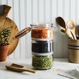 Glass Stackable Storage Jar