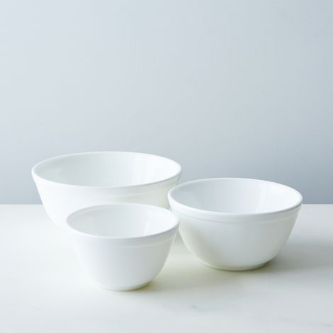 White Glass 3-Piece Mixing Bowl Set