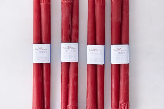 Tapered Lingonberry Candles (Set of 8)