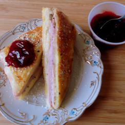 Deluxe Monte Cristo Sandwiches With Mayo-Dijon And Cranberry Sauces