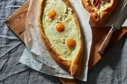 Khachapuri (Georgian Cheese and Egg Bread)
