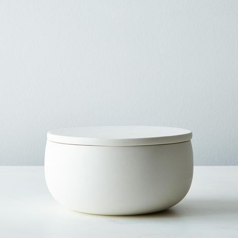Flat Lidded Porcelain Container