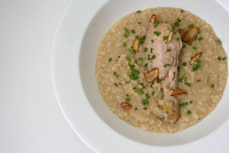 Filipino style Chicken Rice Porridge