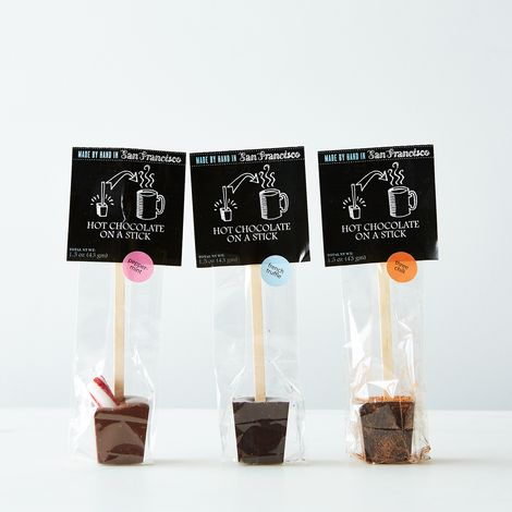 Hot Chocolate on a Stick (French Truffle, Peppermint, Peanut Butter Cup & Salted Caramel)