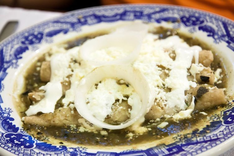 HATCH GREEN CHILE SAUCE AND ENCHILADAS