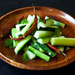Jeffrey Alford & Naomi Duguid's Spicy Cucumber Salad