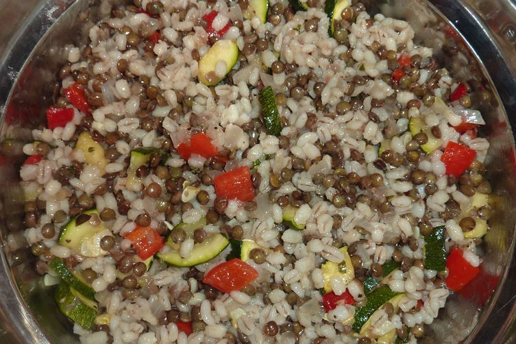 French Lentil and Barley Summer Salad