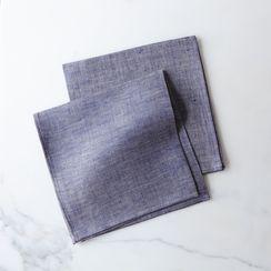 Thick Linen Chambray Napkins (Set of 2)
