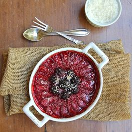 Roasted Berries with Lime and Toasted Coconut
