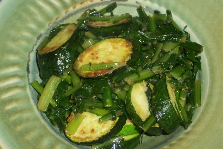 Dandelions and zucchini