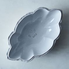 Octofoil Tin-Glazed Serving Bowl