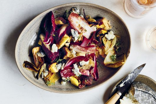 Paul Kahan's Panzanella With Roasted Leeks, Pecans & Apples