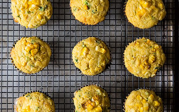 Double Corn, Quinoa, and Cheddar Muffins from Food52