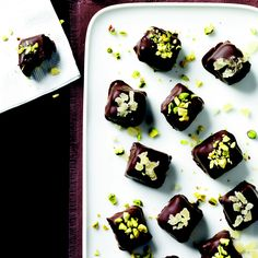 Date Caramels with Crunchy Chocolate Coating