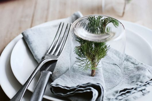 Donna Hay's Trick for Instant Mini Christmas Tree Place Settings