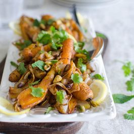 Roasted Spiced Carrots with Pistachios