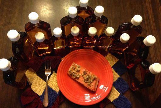 Salmon with Maple Walnut Sauce