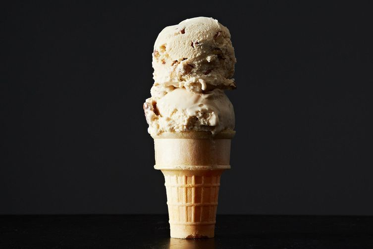 Butter pecan ice cream gets a brown butter upgrade.
