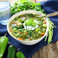 Chicken and Green Chile Verde Soup