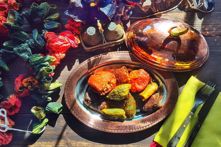 Stuffed Sun Dried Vegetables (Nakışlı Dolma)