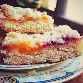 Peach + Cardamom Shortbread Bars